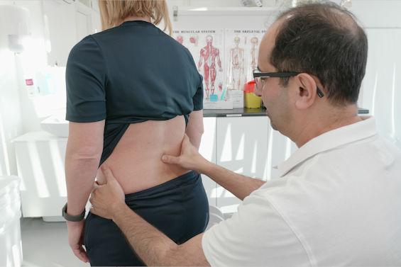 Ryggproblem - Undersökning av ryggen