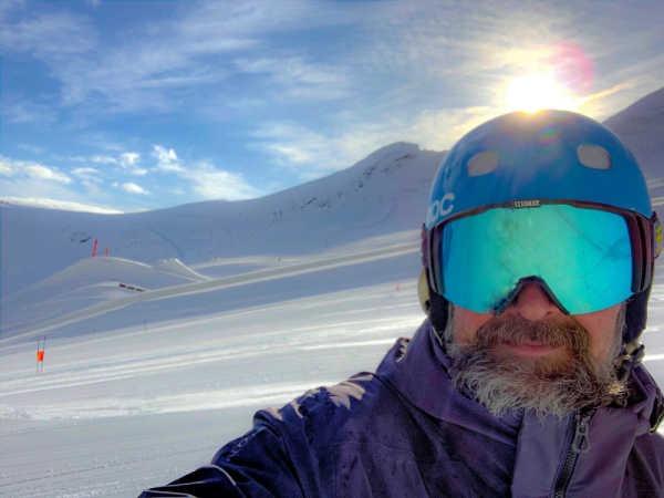 Björn Becksmo på alptopp
