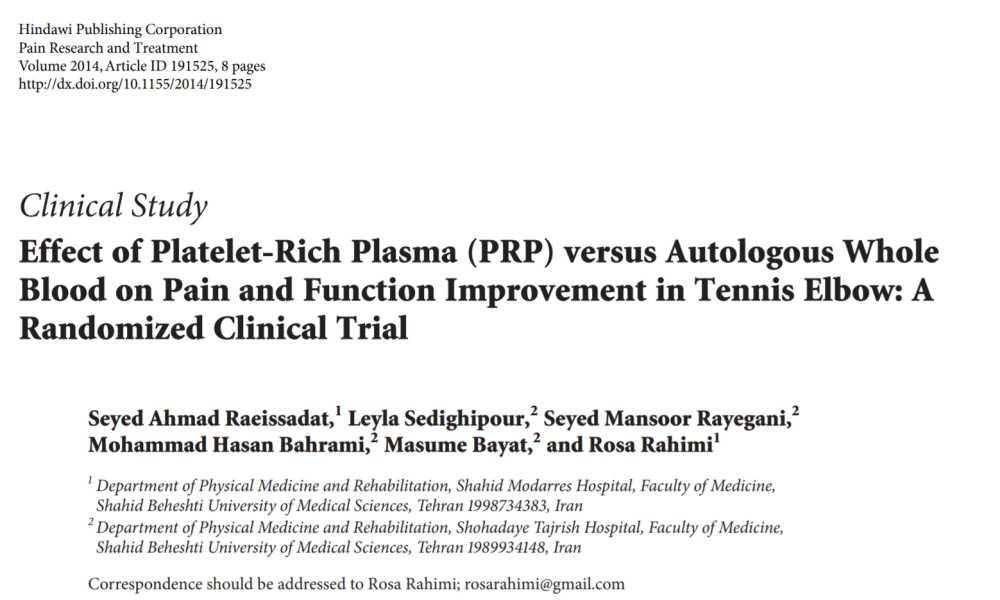 Effect of Platelet-Rich Plasma (PRP) versus Autologous