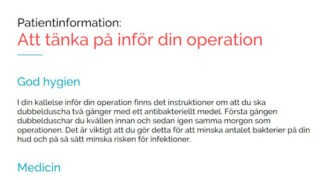 Digital information inför operation